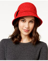 kate spade new york | Multicolor Self Bow Cloche | Lyst