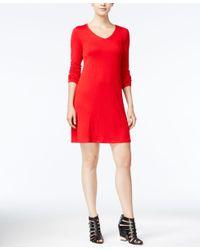 Kensie | Red Long-sleeve T-shirt Dress | Lyst