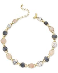 kate spade new york - Metallic Gold-tone Multi-stone Link Collar Necklace - Lyst