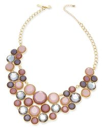 INC International Concepts | Metallic Gold-tone Multicolor Crystal Bib Necklace, Only At Macy's | Lyst