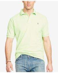 Polo Ralph Lauren - Green Men's Big And Tall Classic-fit Mesh Polo Shirt for Men - Lyst
