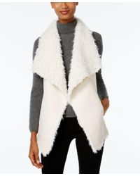 INC International Concepts | White Faux Sherpa Traveller Vest, Only At Macy's | Lyst
