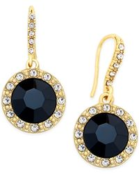 INC International Concepts | Round Blue Stone Drop Earrings | Lyst