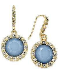 INC International Concepts | Blue Round Stone Drop Earrings, Only At Macy's | Lyst
