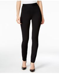 INC International Concepts | Black Tummy-control Curvy-fit Skinny Pants, Only At Macy's | Lyst