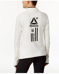 Reebok - White Hex Thermal Quarter-zip Top - Lyst