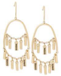Kenneth Cole - Metallic Gold-tone Shaky Stick Chandelier Earrings - Lyst