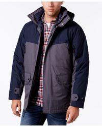 Izod   Blue Men's Colorblocked 3 - 1 Ski Jacket for Men   Lyst