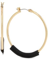 INC International Concepts | Metallic M. Haskell For Inc Gold-tone Cord-wrapped Hoop Earrings, Only At Macy's | Lyst