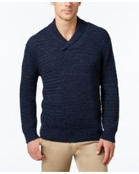 Tommy Bahama | Blue Men's Cape Escape Chunky-knit Shawl-collar Sweater for Men | Lyst