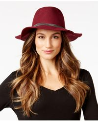 BCBGeneration | Brown Delicate Chain Panama Hat | Lyst