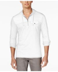 INC International Concepts | Black Men's Moto Travel Long-sleeve Hoodie Shirt, Only At Macy's for Men | Lyst