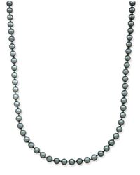 Charter Club - Silver-tone Long Gray Imitation Pearl Strand Necklace - Lyst