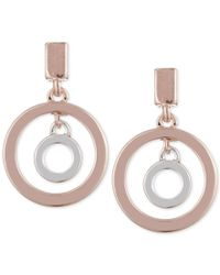 Anne Klein - Multicolor Two-tone Orbital Circle Drop Earrings - Lyst