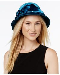 August Accessories | Blue Enchanting Bow Dress Cloche | Lyst