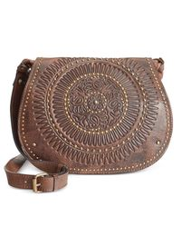 Patricia Nash | Brown Distressed Vintage Luciana Shoulder Bag | Lyst