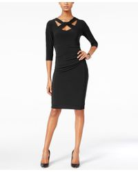 INC International Concepts | Black Cutout Sheath Dress, Only At Macy's | Lyst