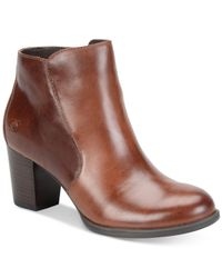 Born | Brown Alter Zippered Booties | Lyst