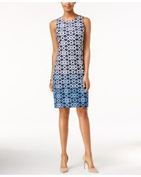 Charter Club - Blue Ombre Shift Dress, Only At Macy's - Lyst
