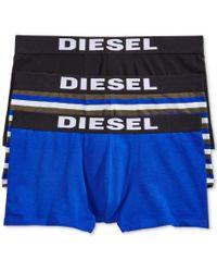 DIESEL | Blue Men's 3 Pack Shawn Trunks for Men | Lyst