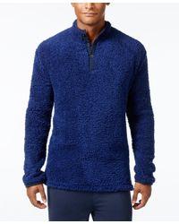 Kenneth Cole Reaction | Blue Men's Fleece Henley Lounge Top for Men | Lyst
