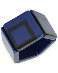 INC International Concepts | Blue And Black Square Stretch Bracelet | Lyst