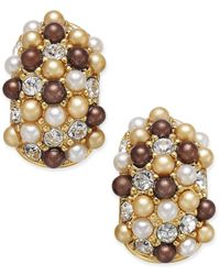 Charter Club | Metallic Erwin Pearl Atelier For Gold-tone Multi-bead Huggy Hoop Earrings, Only At Macy's | Lyst