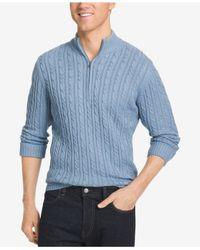 Izod | Blue Men's Big & Tall Mock Turtleneck Sweater for Men | Lyst