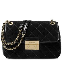 Michael Kors | Black Michael Sloan Large Chain Shoulder Bag | Lyst
