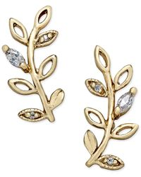 Giani Bernini | Metallic Crystal Vine Ear Climber Earrings In 18k Gold-plated Sterling Silver, Only At Macy's | Lyst