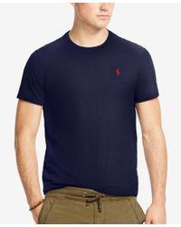 Polo Ralph Lauren | Blue Men's Cotton Jersey Crewneck for Men | Lyst