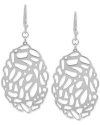 Touch Of Silver | Metallic Filigree Oval Drop Earrings In Silver-plate | Lyst