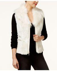 Guess | Black Gabby Faux-fur Vest | Lyst