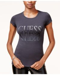 Guess - Blue Reflection Logo Graphic T-shirt - Lyst
