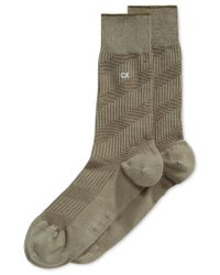 Calvin Klein | Green Diagonal Textured Crew Socks for Men | Lyst