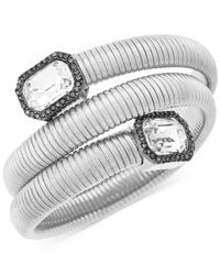 Vince Camuto | Metallic Silver-tone Stone Coil Bracelet | Lyst