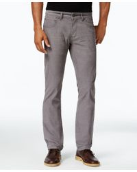 INC International Concepts | Gray Men's Slim-fit Stretch Corduroy Pants, Only At Macy's for Men | Lyst