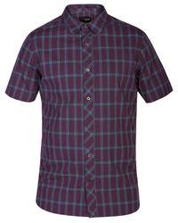 Hurley | Purple Men's Short-sleeve Eli Plaid Shirt for Men | Lyst