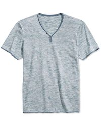 INC International Concepts | Blue Men's Le Grecko Heathered Y-neck T-shirt, Only At Macy's for Men | Lyst