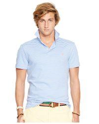 Polo Ralph Lauren | Blue Men's Striped Pima Soft-touch Shirt for Men | Lyst