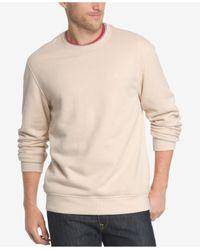 Izod | Natural Men's Saltwater Fleece Crew-neck Sweatshirt for Men | Lyst