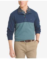 Izod | Blue Men's Colorblocked Henley for Men | Lyst