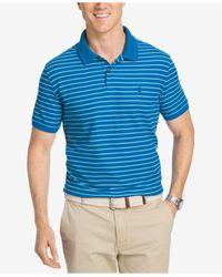 Izod | Blue Men's Advantage Striped Polo for Men | Lyst
