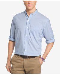 Izod - Blue Men's Advantage Bengal Striped Shirt for Men - Lyst