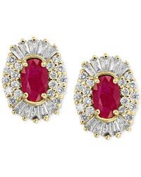 Effy Collection | Metallic Amore By Effy Certified Ruby (1-1/8 Ct. T.w.) And Diamond (5/8 Ct. T.w.) Earrings In 14k Gold | Lyst