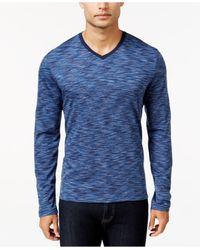 Alfani | Blue Men's Tri-color Space Dyed Long-sleeve T-shirt for Men | Lyst