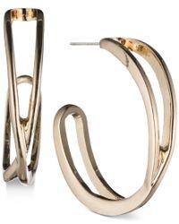 Nine West | Metallic Openwork J-hoop Earrings | Lyst