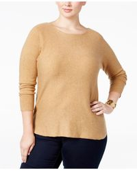 INC International Concepts | Natural Plus Size Tunic Sweater, Only At Macy's | Lyst