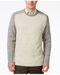 Tricots St Raphael | Natural Men's Colorblocked Nep Baseball Sweater for Men | Lyst