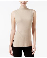 Calvin Klein | Multicolor Ribbed Mock-neck Sweater | Lyst